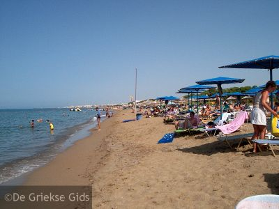 Foto van het strand van Amoudara op Kreta